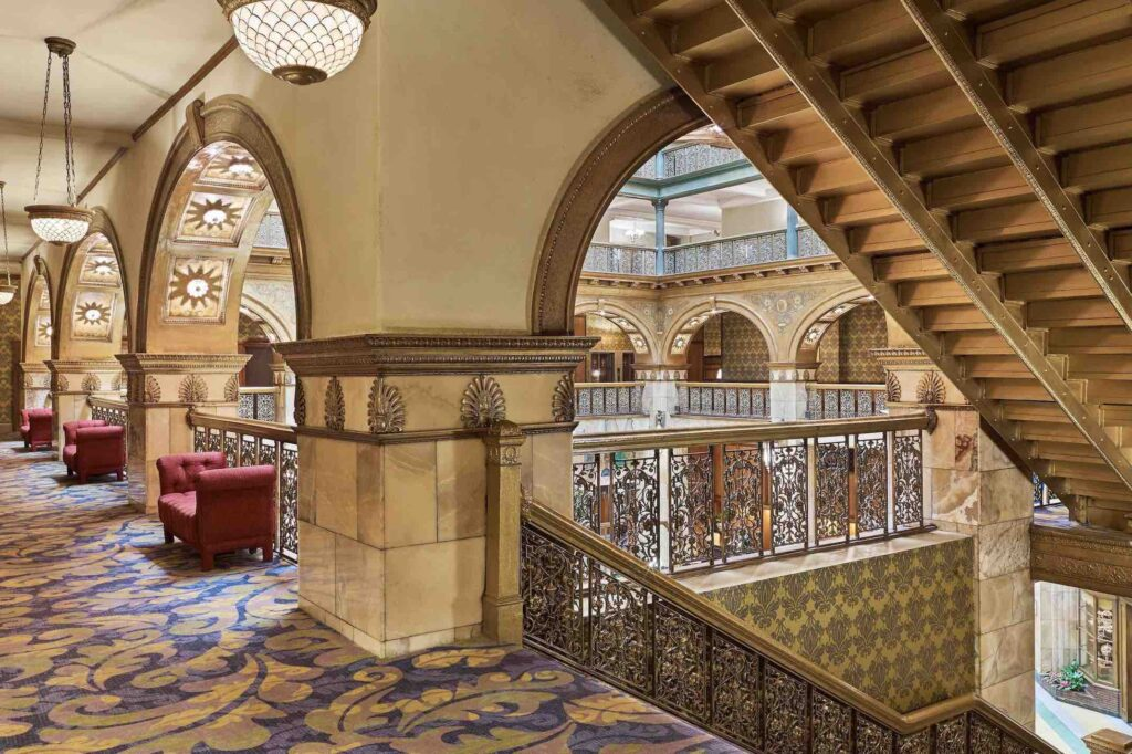 MFI - denak-staircase-7209-hor-clsc - The Brown Palace Hotel and Spa staircase of one of the best luxury hotels in Denver