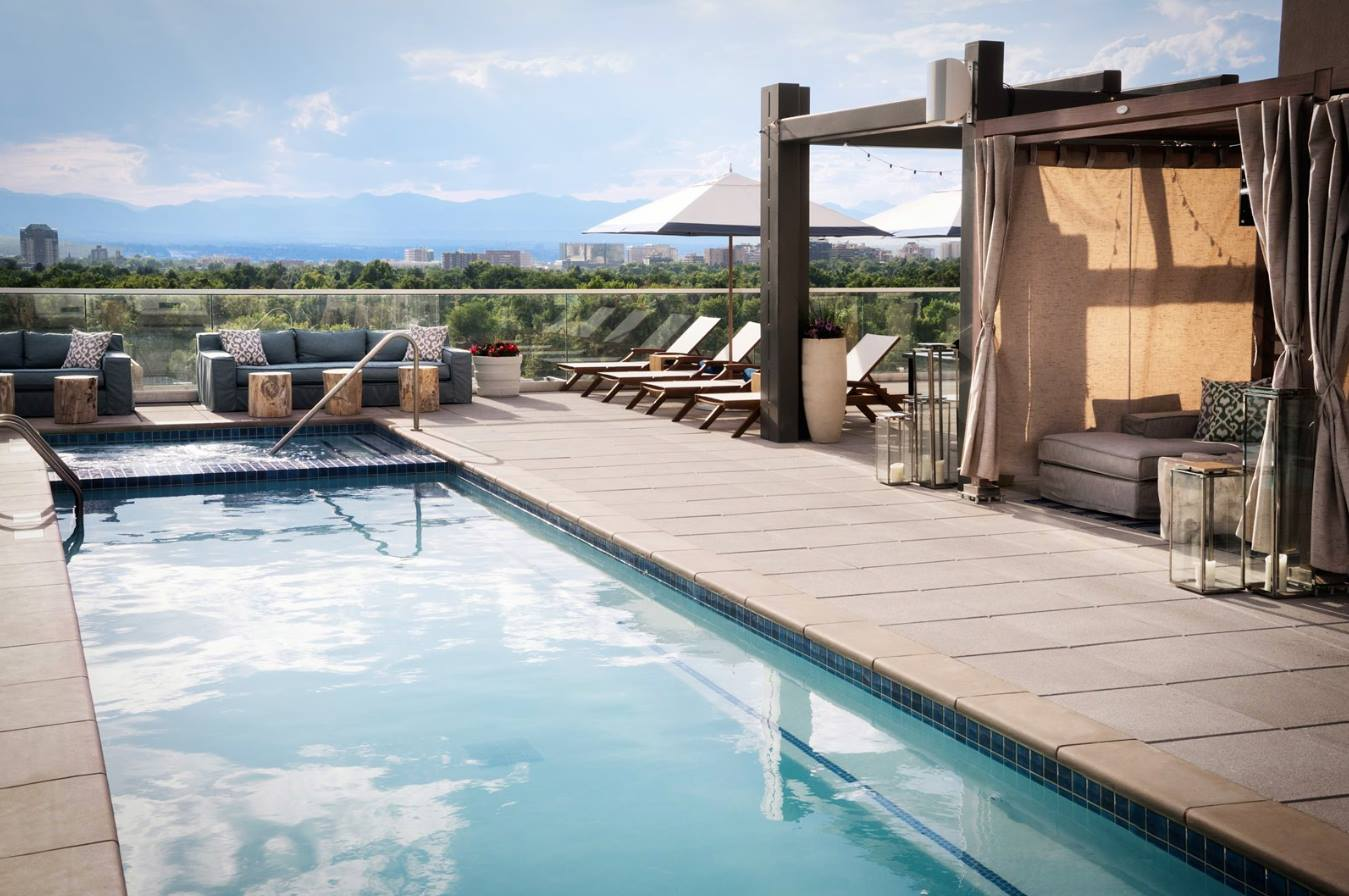 Halcyon - a hotel in Cherry Creek-rooftop swimming pool