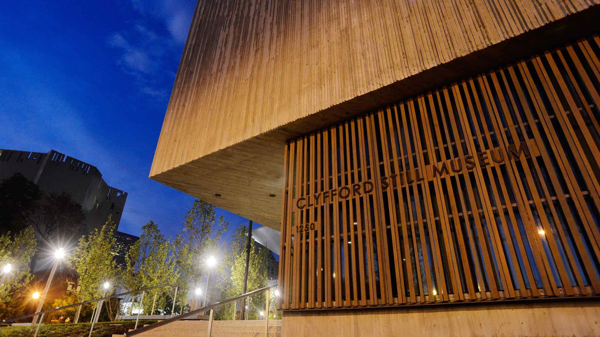 Clyfford Still Museum at night