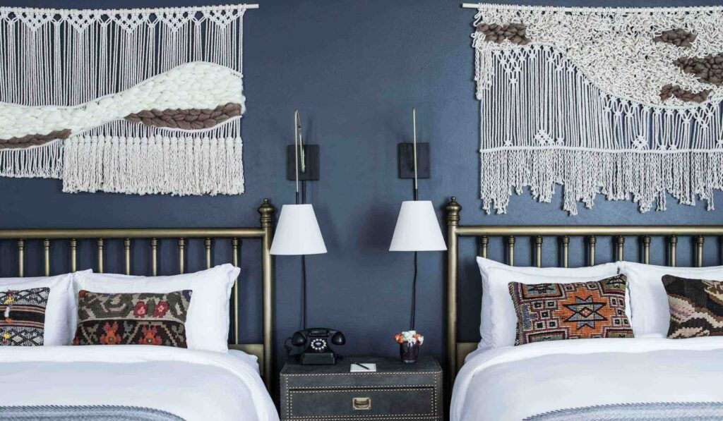 Double-Queen-Bedroom-bed-Armstrong Hotel boutique hotels in Denver